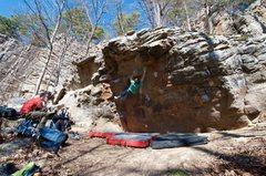 Rock Climbing Photo: Chris on the edges