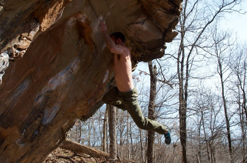 Rock Climbing Photo: Brian holding the swing