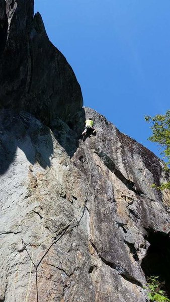 Rock Climbing Photo: awesome view from the top...once you clip the anch...