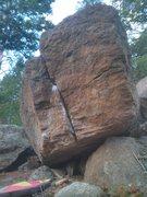 Rock Climbing Photo: Hand-jam Boulder.