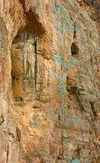 Rock Climbing Photo: Route topo for The Iliad & The Odyssey