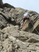 Rock Climbing Photo: Greg Hand at the upper traverse.
