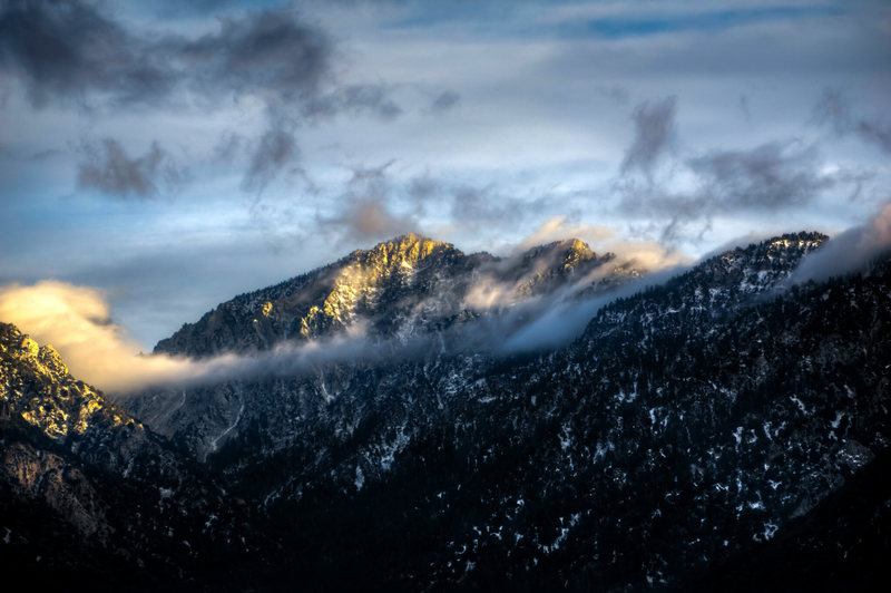 Rock Climbing Photo: Galena Peak from the road up to Morton Peak, a few...