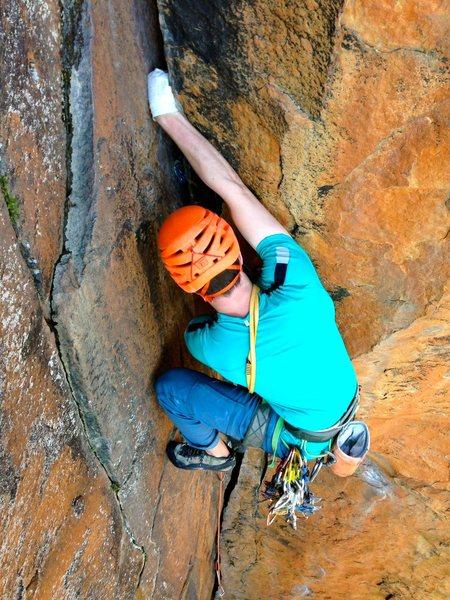 Rock Climbing Photo: fistin'