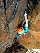 Rock Climbing Photo: Ryan cruising up