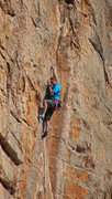 Rock Climbing Photo: Tiny crimps at the crux of The Odyssey (5.12) Ian ...
