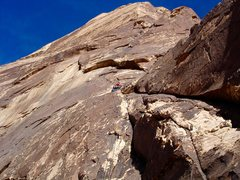 Rock Climbing Photo:  VZ on the first pitch of Mountain Beast.