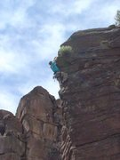 Rock Climbing Photo: Climbing at Rainbow Canyon, NV.