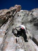 Rock Climbing Photo: Kim Miller starts up High Times