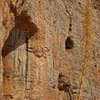 Rich and Ben climbbing <br> The Trojan Wall <br> Ian Hanna photo