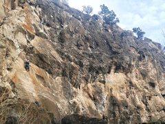 Rock Climbing Photo: Hogan about to start The Trueverse. Photo: B. Hinc...