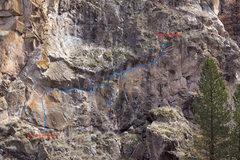Rock Climbing Photo: The Trueverse Topo Photo: C. Edmands