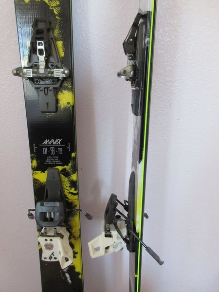 K2 Annex 98 Skis 177cm. Used ~ 15 days. Minor scratches in base. Dynafit TLT ST bindings. $200. each. Will sell separately or together. Bindings sold.