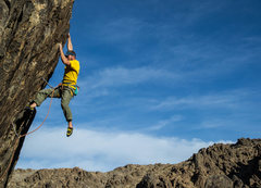 Rock Climbing Photo: Nate Vince styles the redpoint crux of Maynard G. ...