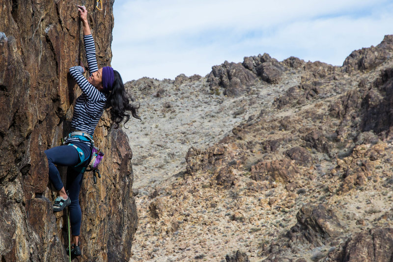 Rock Climbing Photo: Lena on Improbable, New Jack City (5.11)