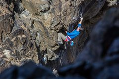 Rock Climbing Photo: Steve Cox on Lethal Weapon at New Jack City. (5.12...