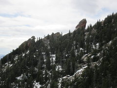Rock Climbing Photo: The 'Flying Flatiron' and 'The Devil's Thumb' as s...