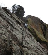 Rock Climbing Photo: Sonia Buckley leads the FA of 'Take The Bit' (5.8)...