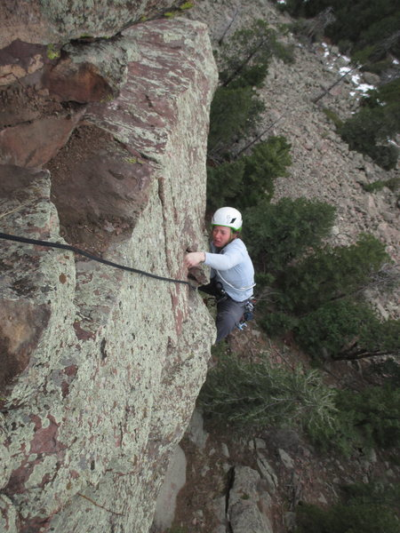 Rock Climbing Photo: Sonia Buckley follows the crux roof on the F. A. o...
