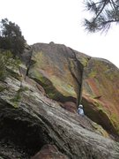 Rock Climbing Photo: Sonia Buckley looks up into the business on the F....
