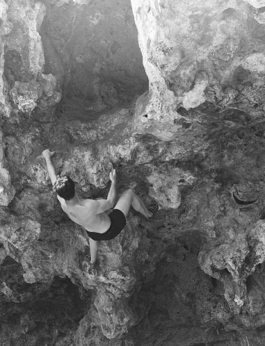 Rock Climbing Photo: Boulder problem midway through the roof. Walk up t...