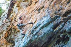 Rock Climbing Photo: Dave Coleman sending Elastic Rebound 5.11c.