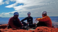 Rock Climbing Photo:     Sweet Autumn day in 2013,... to be on the summ...