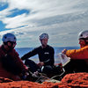 Sweet Autumn day in 2013,... to be on the summit of the Titan. Eric Schildroth, Garrett Kemper and Eric Zschiesche,... present, and accounted for....