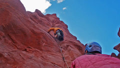Rock Climbing Photo:    2nd pitch on the Finger of Fate route. Zschiesc...
