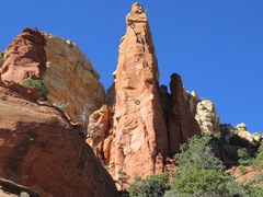 Rock Climbing Photo: Spaceman prow from the approach.  Pitches 5 and 6 ...