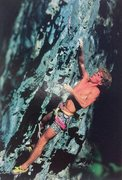 Rock Climbing Photo: Mike Beck on Malvado (5.13a), American Fork Canyon...