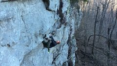 Rock Climbing Photo: Spanky pulling the lip.