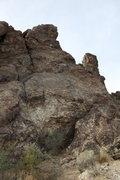 Rock Climbing Photo: Bedrock wall and belay area