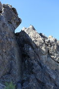 Rock Climbing Photo: Route is right of the crevice and main wall with G...