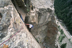 Rock Climbing Photo: Kyle Leffkoff on pitch 2.