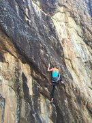 Rock Climbing Photo: Alex on reef on it! 5.10