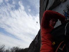 Rock Climbing Photo: Ryan Little on Brain Dead  Taken from Creatures of...