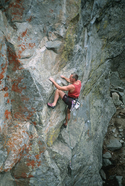 Rock Climbing Photo: Steve Monks low on Supernatural.