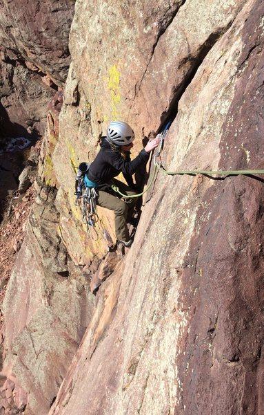 Rock Climbing Photo: Katie in Eldo