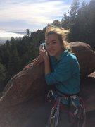 Rock Climbing Photo: Alex 1st Flatiron