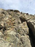 Rock Climbing Photo: After 2nd crux.