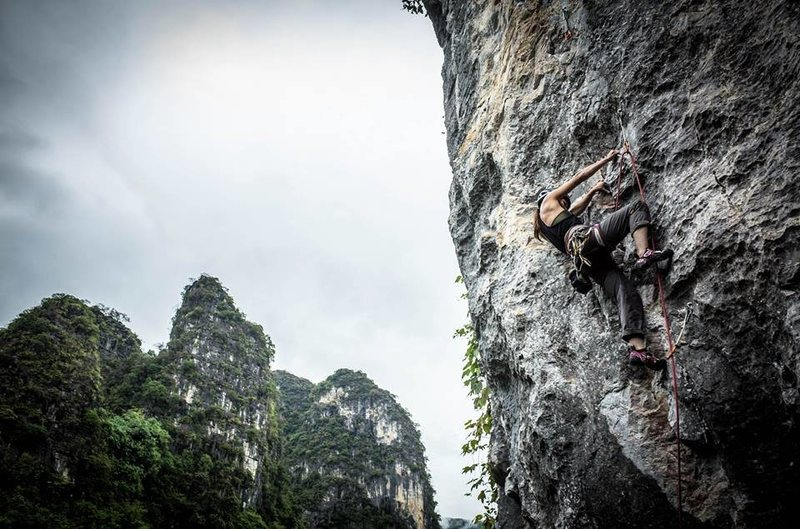 Climbing in Qingyuan, China