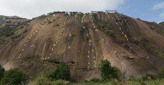 Rock Climbing Photo: Lower Wall topo.   Photo: Bangalore CLimbing Initi...