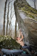 Rock Climbing Photo: Rick gunning for the 2nd ascent of Wildwood Flower
