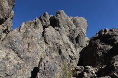 Rock Climbing Photo: View of Cliffs of Insanity from the base of the DX