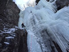 Rock Climbing Photo: A bitter cold day on Dracula this ice season 2016