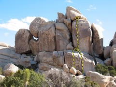 Rock Climbing Photo: Zarmog the Dragon Man (5.10a), Joshua Tree NP