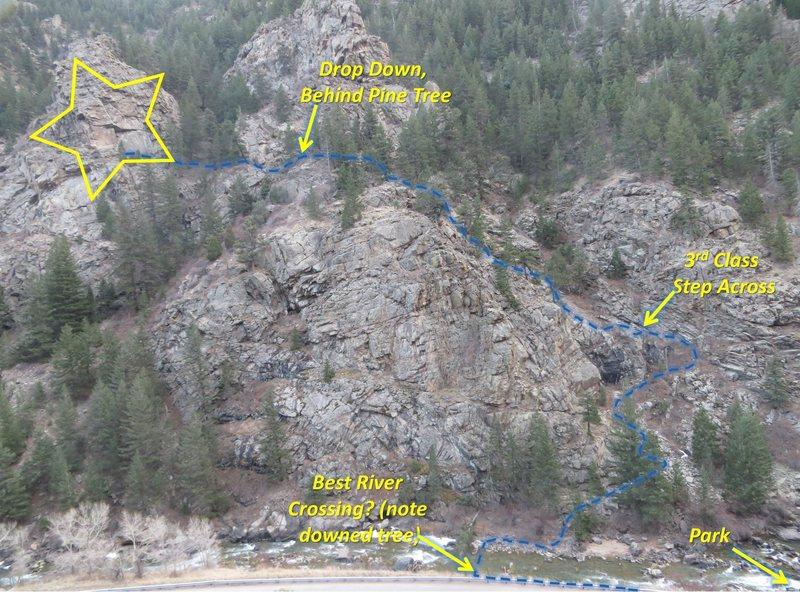 Rock Climbing Photo: Approach topo.