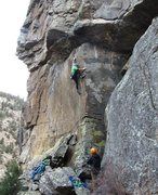 Rock Climbing Photo: Enjoying the brilliant-while-it-lasts arête at th...