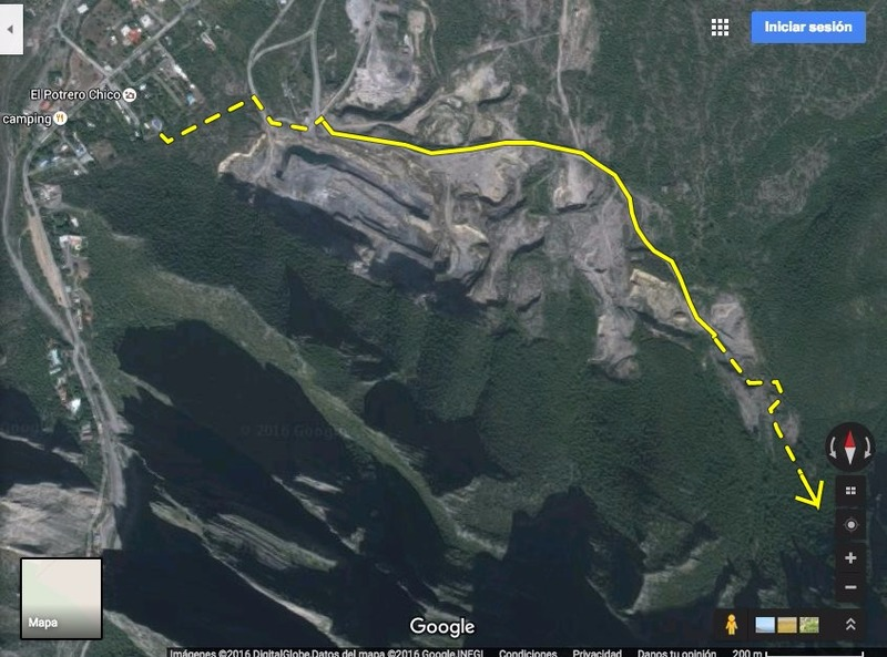 Map to Fitness Cave from La Posada